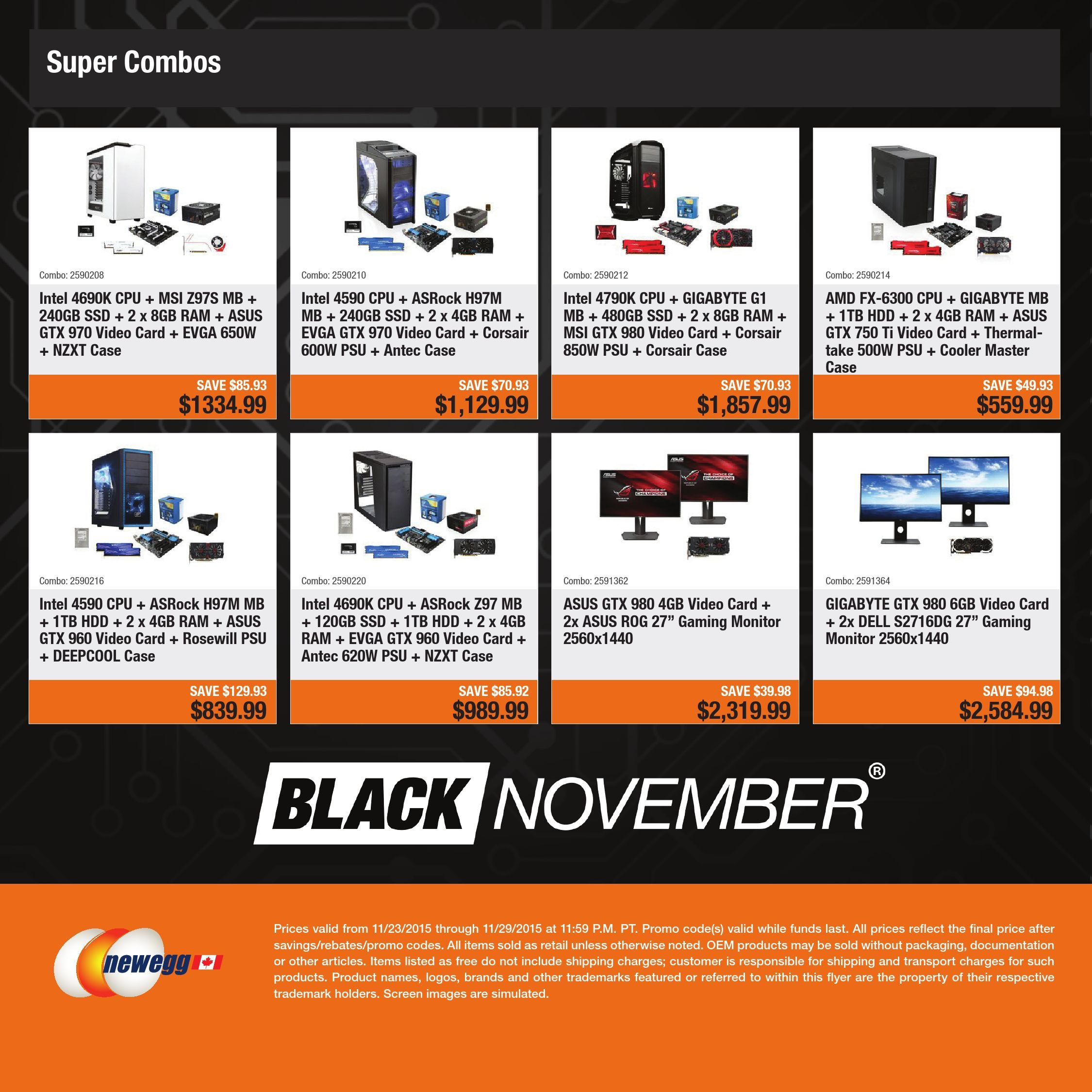 Newegg Weekly Flyer - Black Friday e-Flyer (EN) - Nov 23