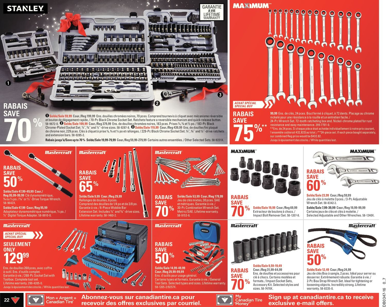 Canadian Tire Weekly Flyer Make It Festive Nov 18 24 Reliant Single Handle Kitchen Faucet Diagram Of Parts For Models 4205