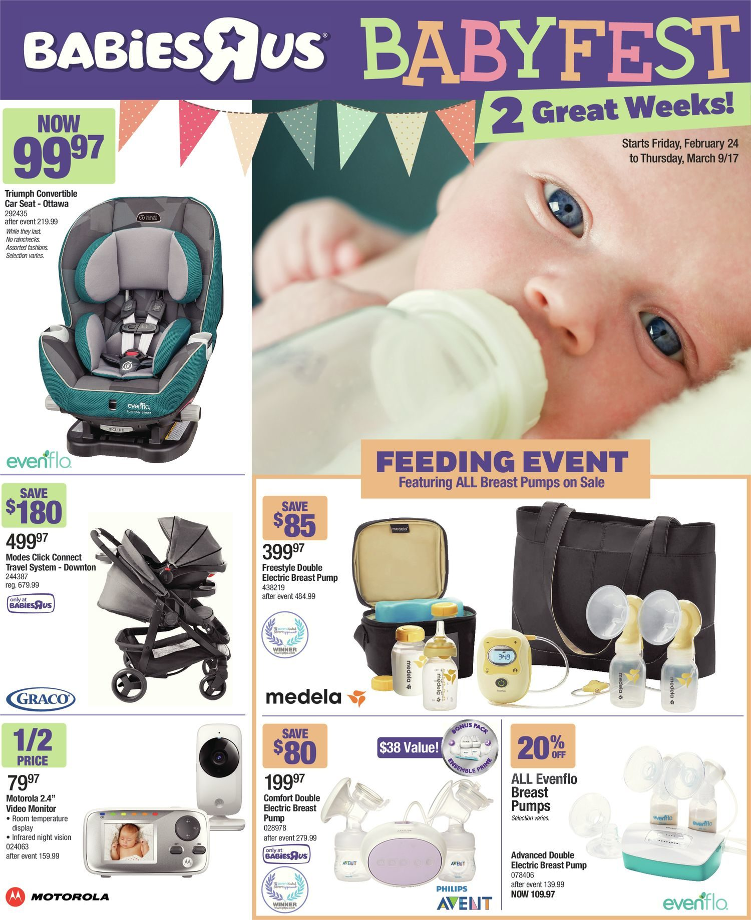 aa225dfef6d5 Babies R Us Weekly Flyer - 2 Great Weeks! - Babyfest Sale - Feb 24 ...