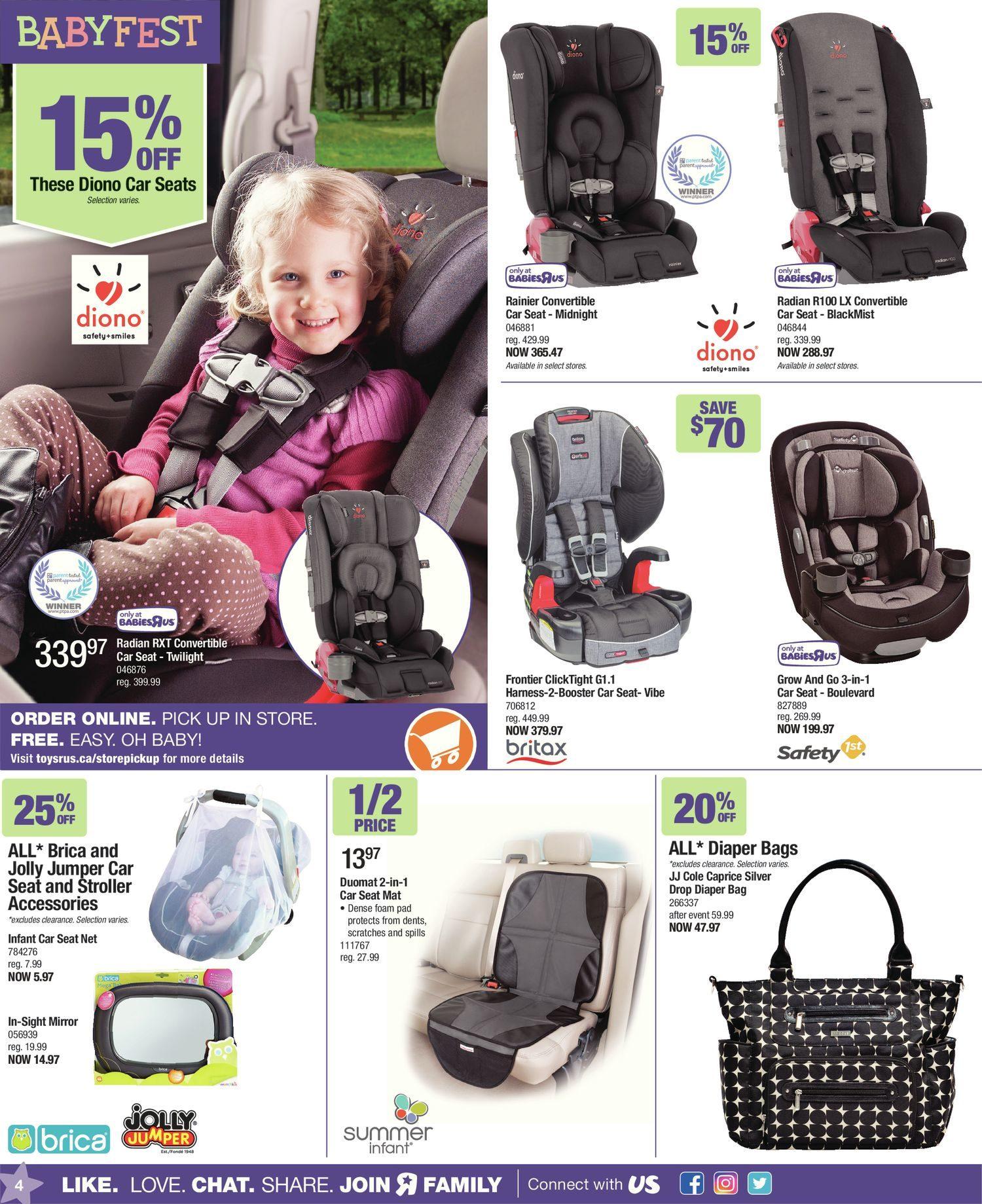 Babies R Us Weekly Flyer 2 Great Weeks Babyfest Sale Feb 24 Bright Starts Ingenuity Smartbounce Automatic Bouncer Winslow Mar 9
