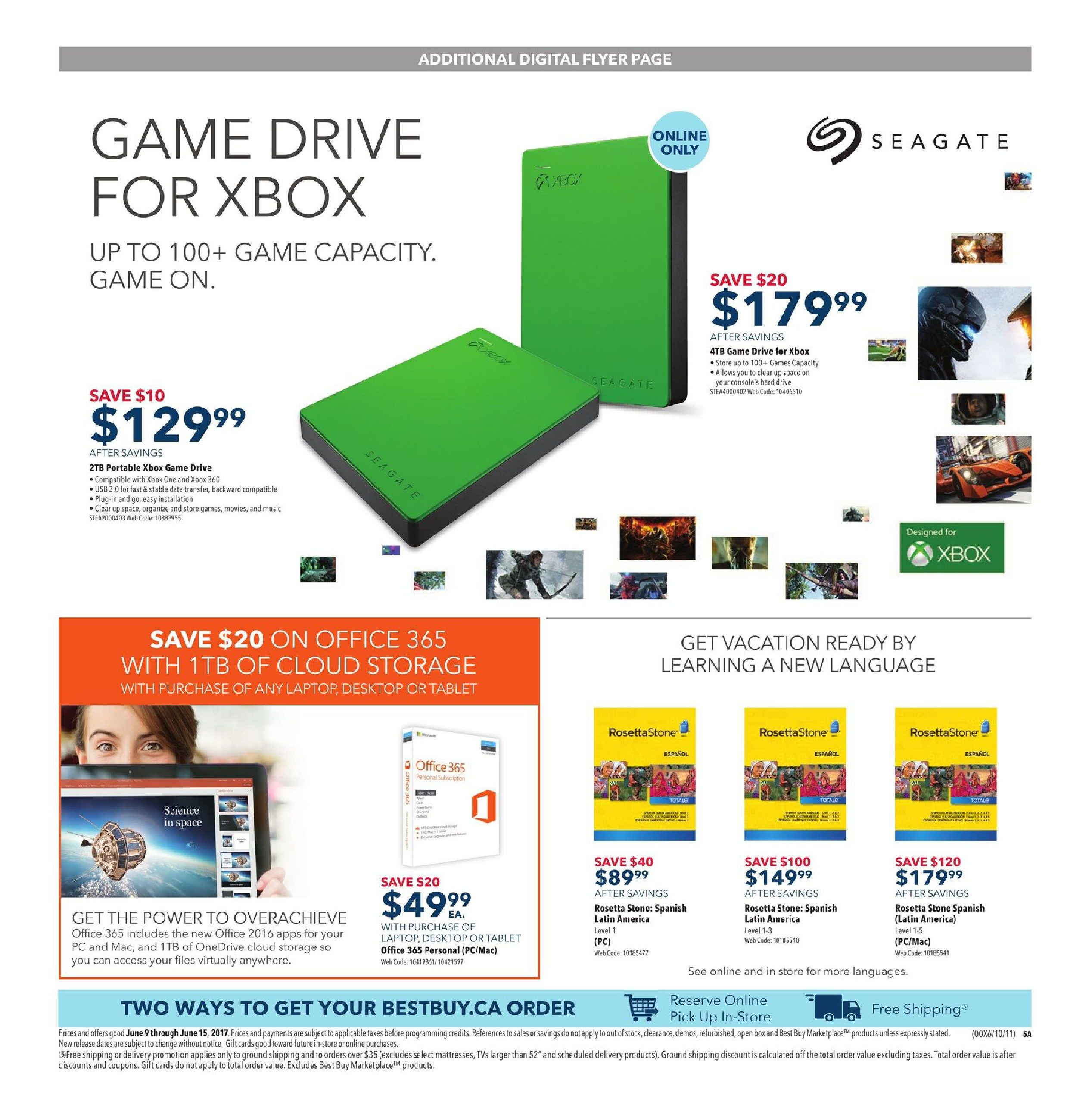 Best Buy Weekly Flyer Make Dads Day Jun 9 15 Office 365 For 5 Pcmac 5tb Onedrive 2016 Original Valid