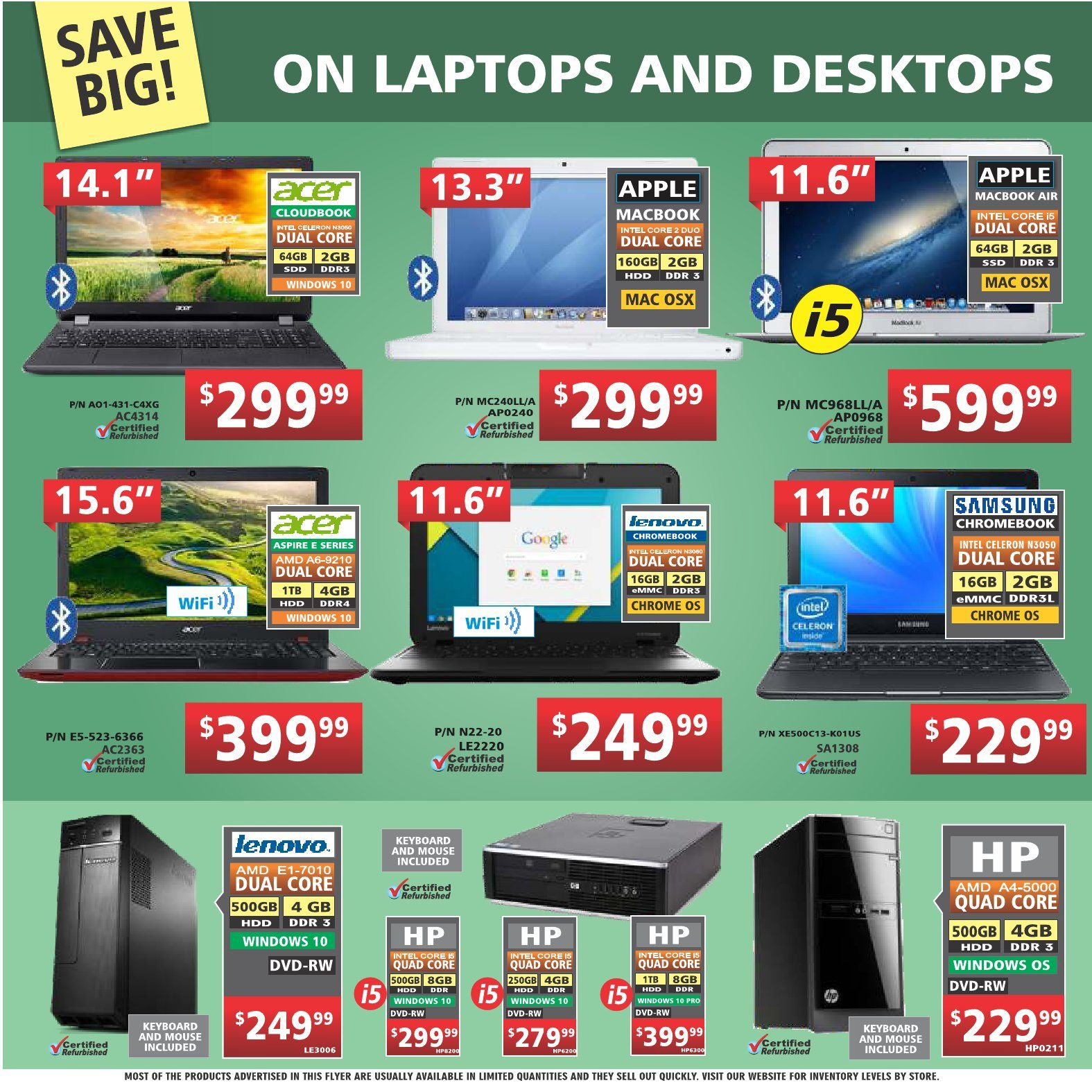 Factory Direct Weekly Flyer - Weekly - Hot! Hot! Hot! Deals