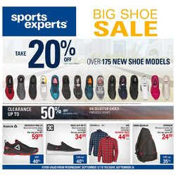 Sports Experts - 2 Weeks of Savings - Big Shoe Sale Flyer
