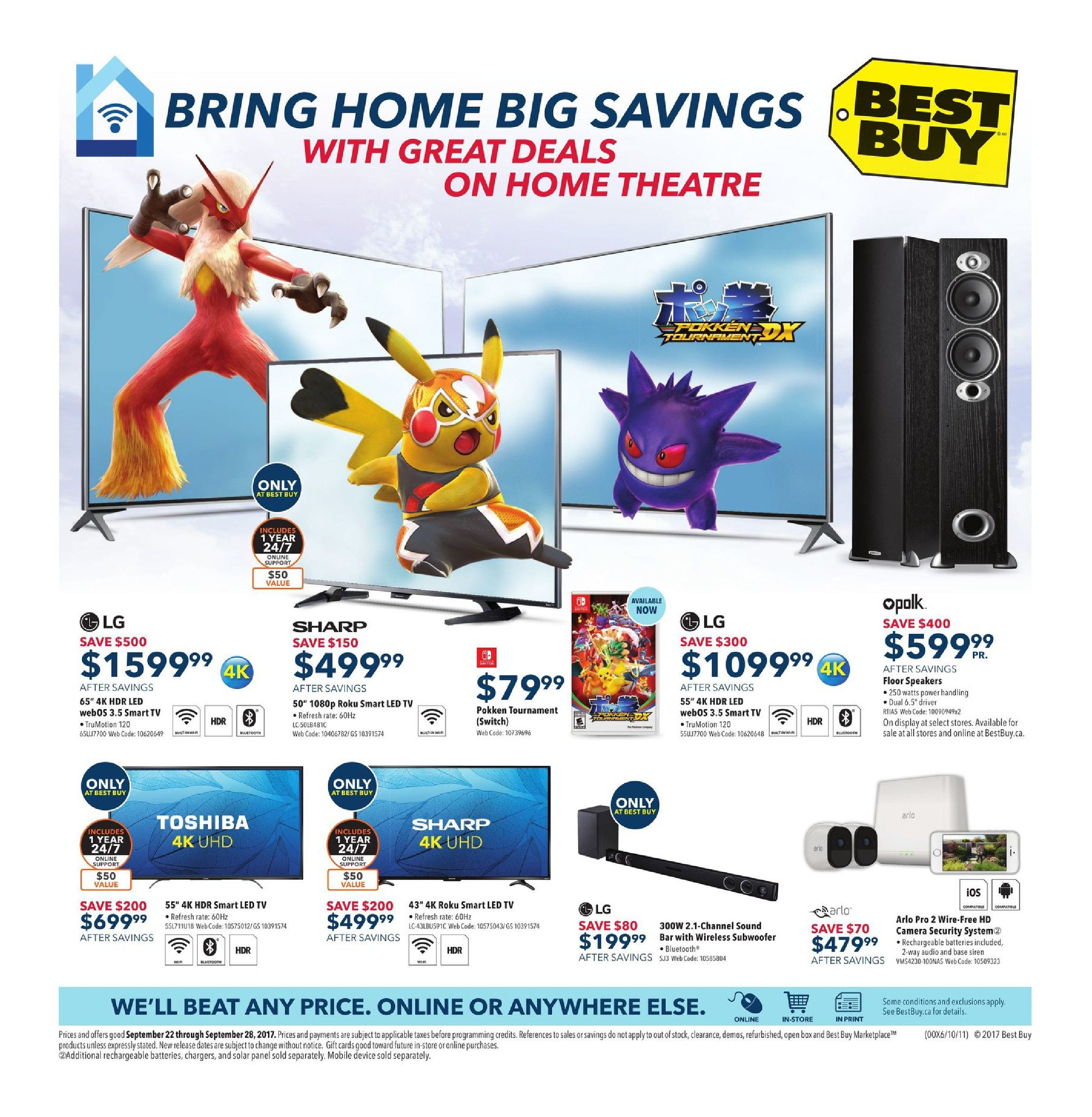 Best buy weekly flyer weekly bring home big savings sep 22 best buy weekly flyer weekly bring home big savings sep 22 28 redflagdeals fandeluxe Image collections