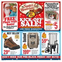 Bass Pro Shops - Santa's Wonderland Kick-Off Sale! Flyer