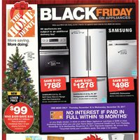 Home Depot - Weekly - Black Friday on Appliances Flyer