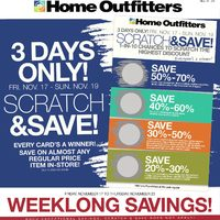 Home Outfitters - Weekly - Weeklong Savings! Flyer