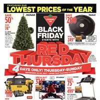- 4 Days Only! - Black Friday Starts with Red Thursday Flyer
