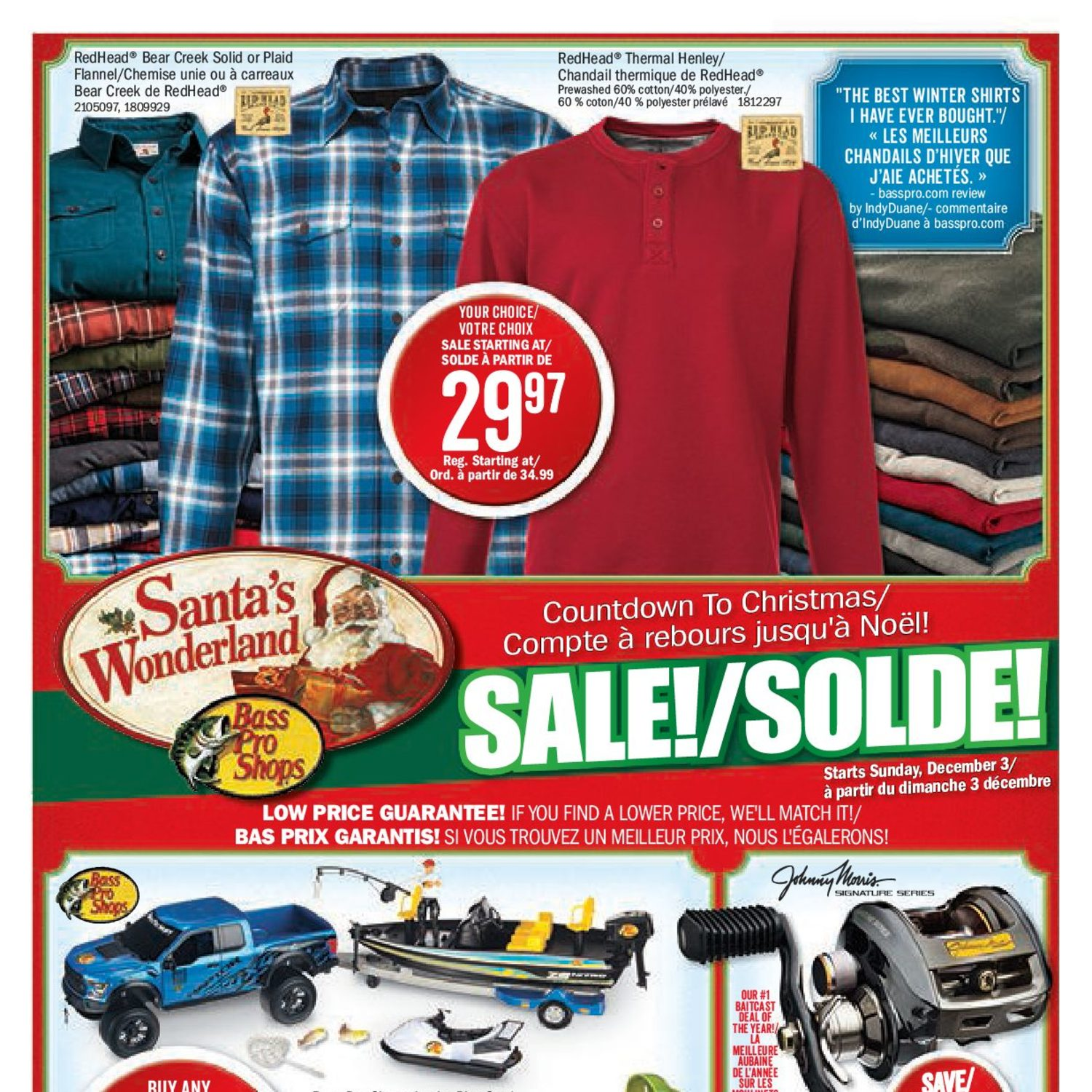 bass pro shops weekly flyer countdown to christmas sale dec 3 10 redflagdealscom - Bass Pro After Christmas Sale