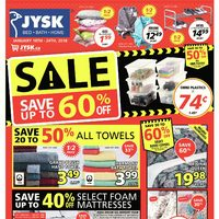 JYSK - Weekly - Save Up to 60% Off Flyer