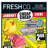 Fresh Co - Weekly - January Cheap Cheap Event Flyer