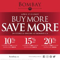 Bombay - Buy More, Save More Promo Flyer
