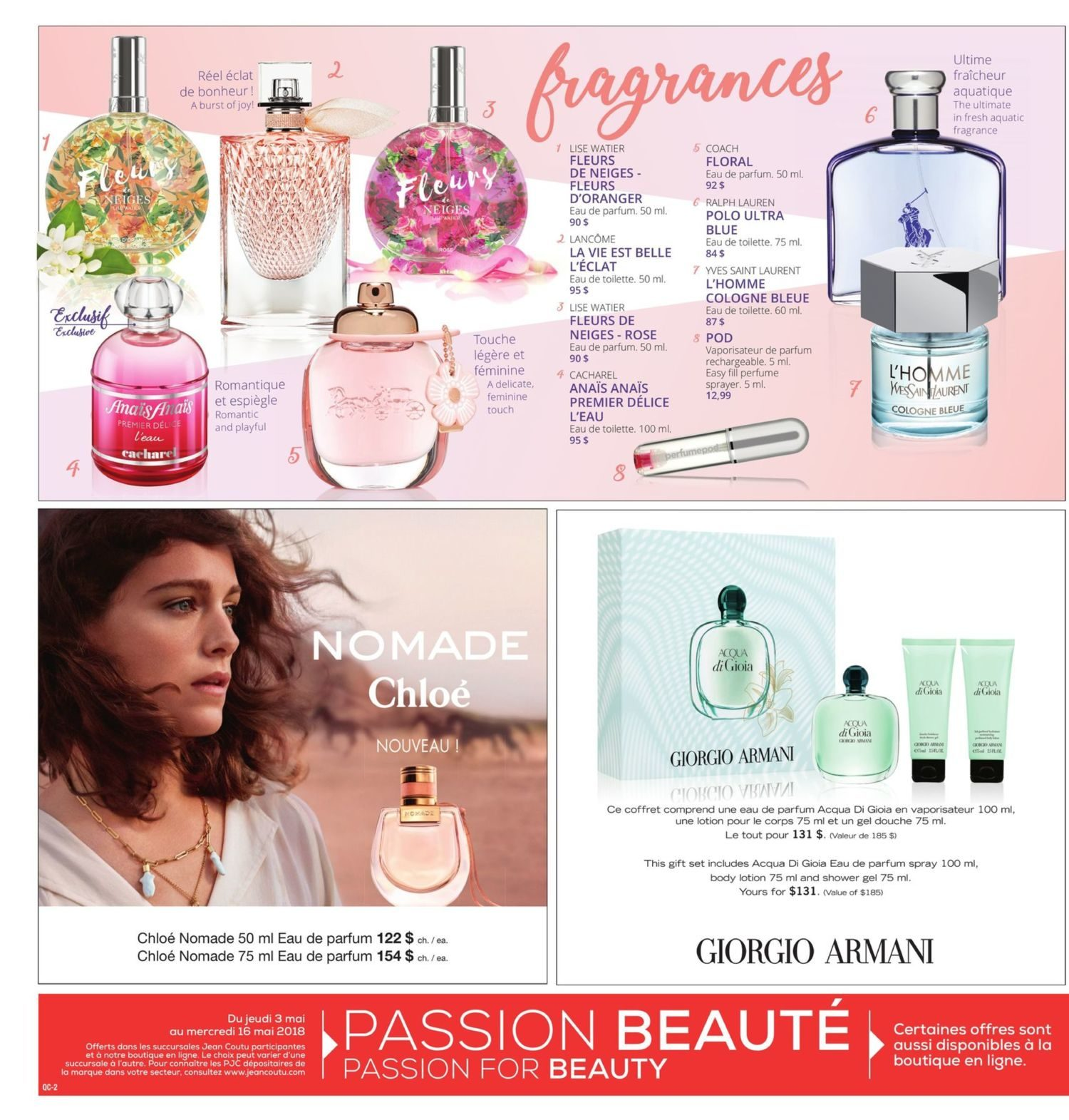 Jean Coutu Weekly Flyer Passion For Beauty Event May 3 16