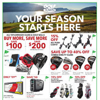 Golf Town - 2 Weeks of Savings - Your Season Starts Here Flyer