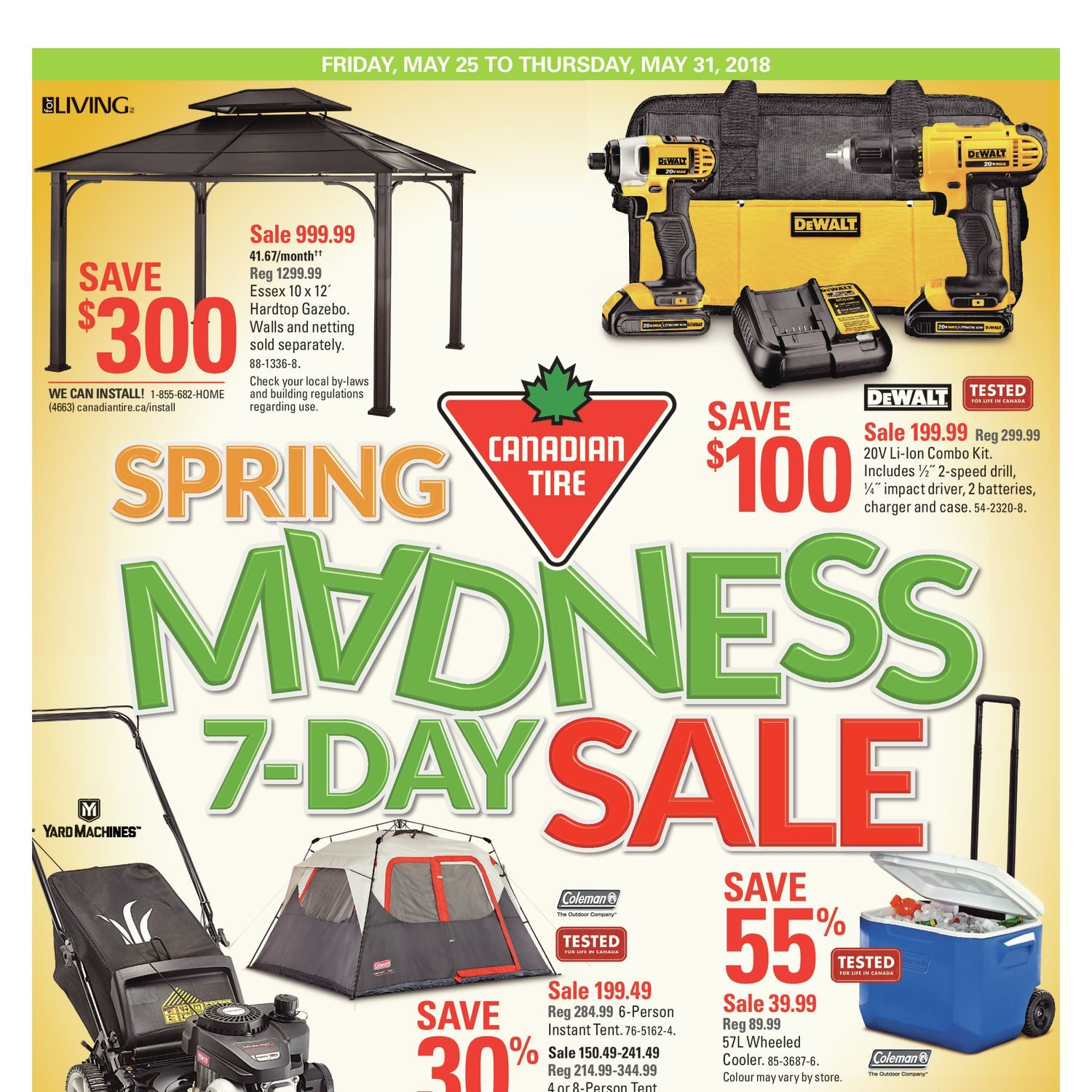 Canadian tire weekly flyer spring madness 7 day sale may 25 31 canadian tire weekly flyer spring madness 7 day sale may 25 31 redflagdeals greentooth Image collections