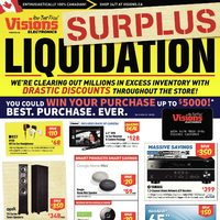 Visions Electronics - Weekly - Surplus Liquidation Flyer