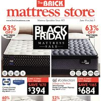 The Brick - Mattress Store - Black Friday Mattress Sale Flyer