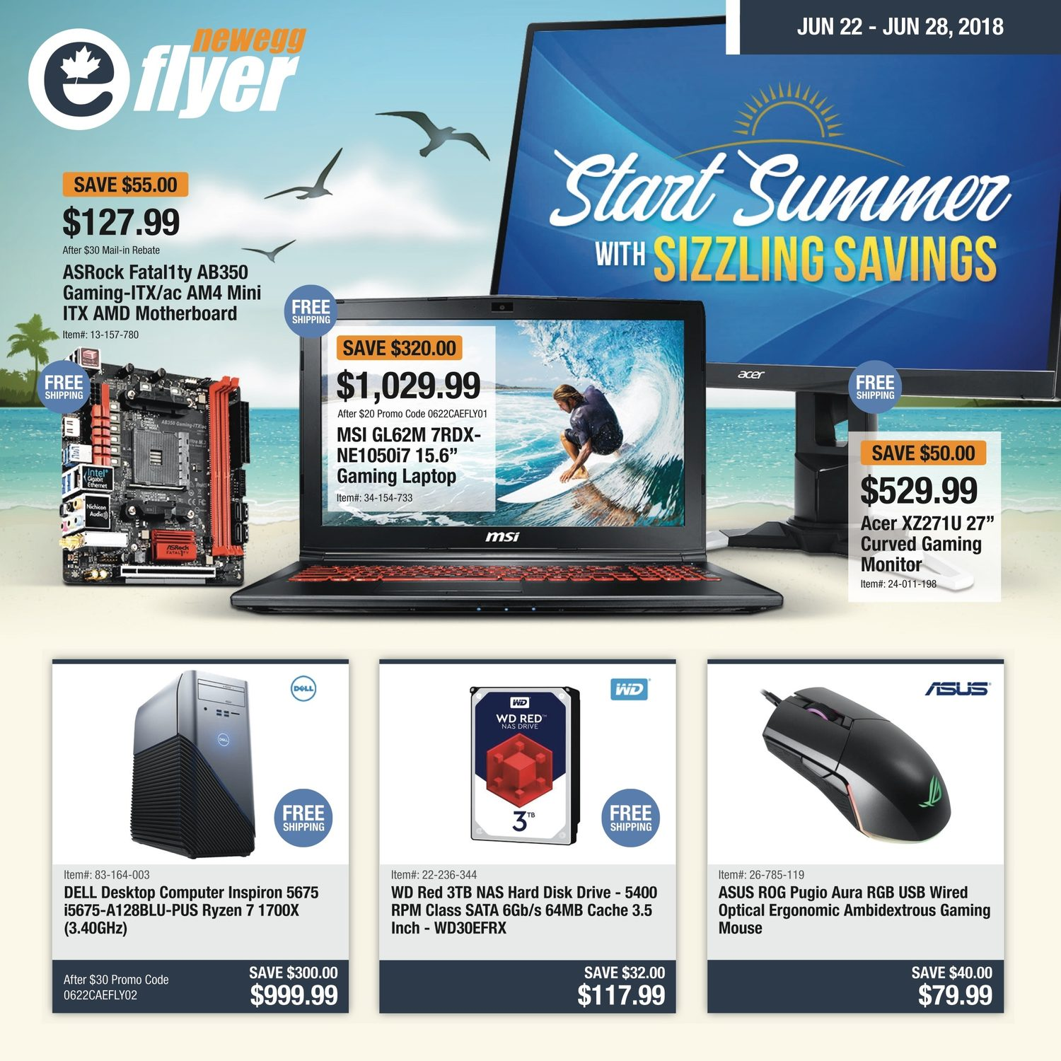 Newegg Weekly Flyer - Start Summer With Sizzling Savings