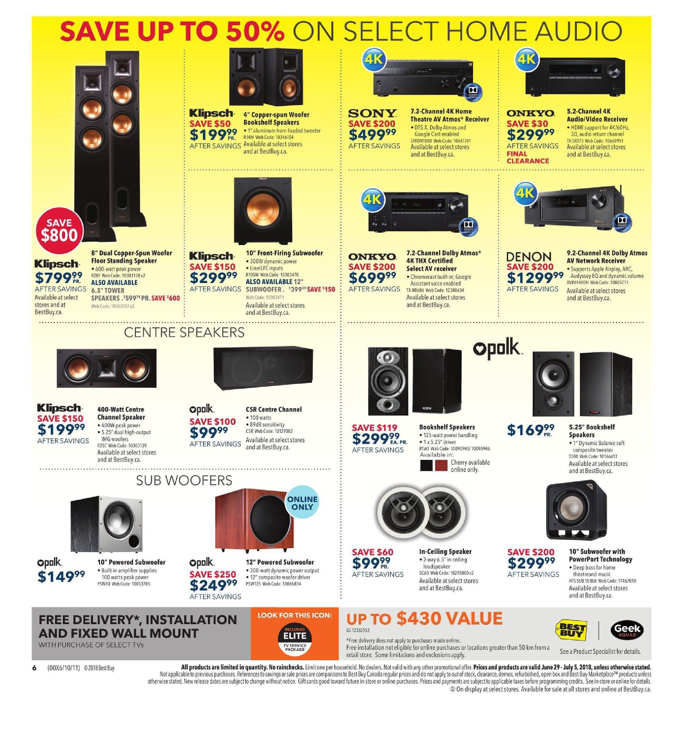 Best Buy Weekly Flyer Boxing Day In July Sale Jun 29 4 Channel Speaker Wiring Diagram Epic 400 Watts Full Range Jul 5