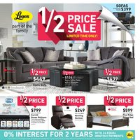 Leon's - Part of the Family - 1/2 Price Sale Flyer