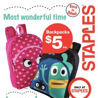 Staples - Weekly - Most Wonderful Time To Save! Flyer