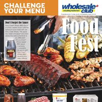Wholesale Club - Challenge Your Menu - Food Fest Flyer
