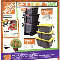 Home Depot - Weekly Specials - Pack. Store. Save. Flyer