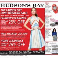 - Weekly - The Labour Day Long Weekend Sale Flyer