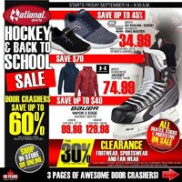 National Sports - Hockey & Back to School Sale Flyer