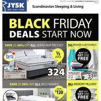 JYSK - Weekly - Black Friday Deals Start Now Flyer