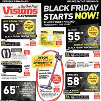 Visions Electronics - Weekly - Black Friday Starts Now! Flyer