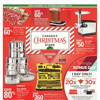 Canadian Tire - Weekly - Canada's Christmas Store Flyer