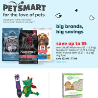 PetSmart - For The Love of Pets - Big Brands, Big Savings Flyer