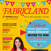 Fabricland - Member Sale Flyer