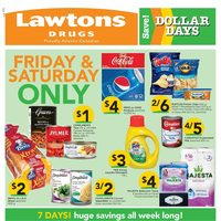 Lawtons Drugs - Weekly - Dollar Days Flyer