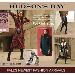 The Bay - Fall's Newest Fashion Arrivals Flyer