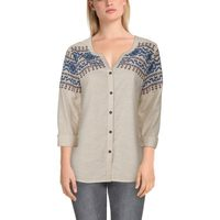 Bob Timberlake Embroidered Stripe Long-Sleeve Shirt