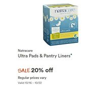 Natracare Ultra Pads & Pantry Liners
