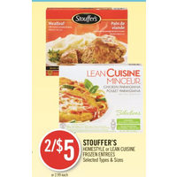 Stouffer's Homestyle Or Lean Cuisine Entrees