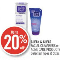 Clean & Clear Facial Cleansers Or Acne Care Products