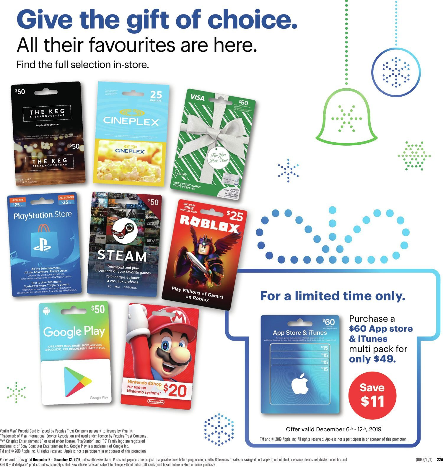 Empire Theatre V7 Roblox Best Buy Weekly Flyer Weekly Save On The Best Gifts Dec 6 12 Redflagdeals Com