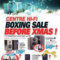 Centre HIFI - Weekly - Boxing Sale Before Xmas! Flyer