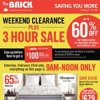 The Brick - Saving You More - Massive Mattress Blowout Flyer