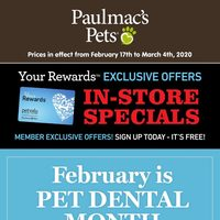 Pet Valu - Paulmac's Pets - Your Rewards Exclusive Offers Flyer