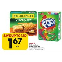 Fruit Snacks or Nature Valley Bars