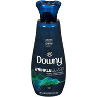 Downy WrinkleGuard Liquid Fabric Softener, Bounce WrinkleGuard Dryer Sheets