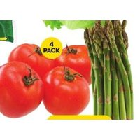 Asparagus or Hothouse Tomatoes