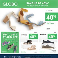 Globo Shoes - Save Up To 40% Flyer