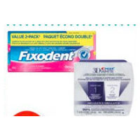 Fixodent Denture Adhesive, Oral-B Pro-Battery Toothbrush or Crest 2-Step Whitening System