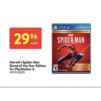 Marvel's Spider-Man Game Of The Year Edition For Playstation 4